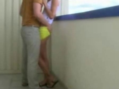 Horny Amateur Petite Teen Cock lover balcony fucks