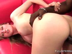 Cute blonde cunt smashed by black shaft