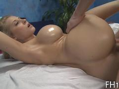 Big tits blondie gets a massage she wont forget