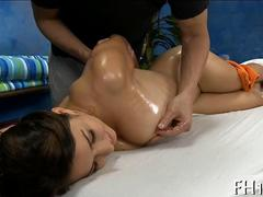 massage for the brunette black raven is so damn hot