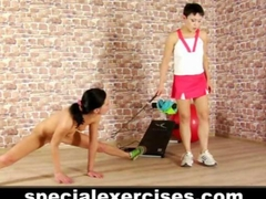 Naked training for slave girl