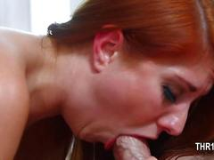 Really nasty whore banged into her mouth