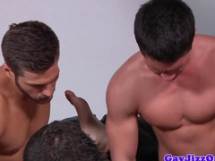 Gay amateur orgy cums to climax for one jock