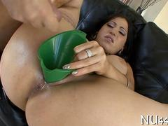 big ass slut is on the fat dick riding it real good