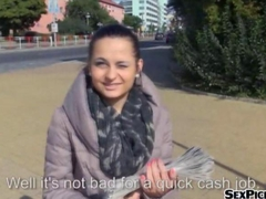 Real amateur Czech girl Ashley Woods gets pounded fo money