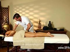 massaging her so they both get fully aroused