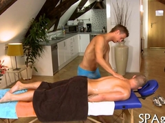 Sensual massage for twink