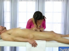 Stunning huge boobies masseuse pussy fucked by her client