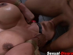 Bound sex slave throated