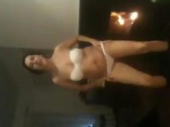 Wife Does A Striptease At Home By The Fire