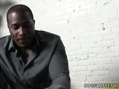 Noelle Easton tries a big cocked black guy