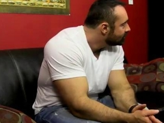 twink gets to be fucked hard by the hunky bear