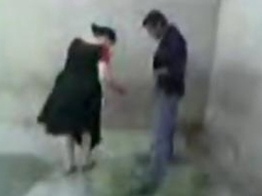 Arabic Couple Caught Fucking Outside