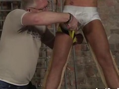 bound slave loves to be jerked by his friend