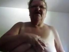 Big Old Woman Masturbating With A Dildo