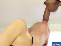 Cute young masseuse Alison Faye milks cock under the table