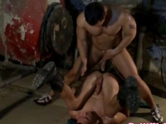 Vicious muscular hunk giving anal
