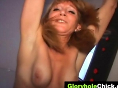 Gloryhole slamming milf