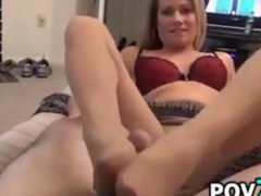 MILF Pleasing My Cock Point Of View