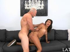 Latina babe getting smashed doggystyle by total hunk Jmac