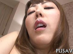 Dirty Asian babe spreads and fingers her pussy to prepare for dick