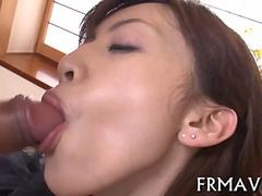 Voracious Asian chick devouring dick and taking it hardcore