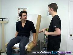 Nerdy twink never thought hed get lucky with his young doctor
