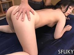 Petite Asian babes shaved pussy cant be resisted