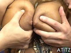 mashing japanese chicks big tits movie