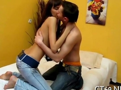 Juicy babe adores hot action