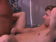hunky dude gets to be sucked by the twink