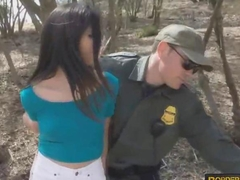 Handcuffed latina got fucked