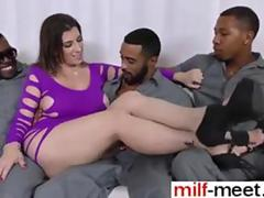 black dudes are so hot as they gang bang her