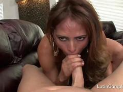 Mature Latina On Her Knees Sucks Dick