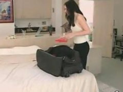 Brunette From Europe Being Fucked On A Bed