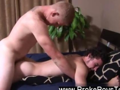 Twink video Reaching back Connor limited his ballsack out of the way so that there was a