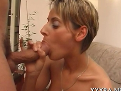 Fiery hot blowjob from a sexy doll