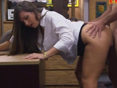 Big butt amateur babe gets her twat fucked in the backroom