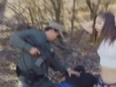 Kimberly sucked Mexican officers cock