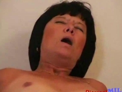 nasty old lady wants to ride the fat dick