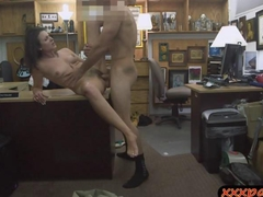 Customers wife seduces the pawn man and gets pounded