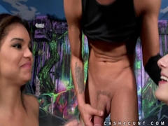 Alex Mae hot threeway after cash shown