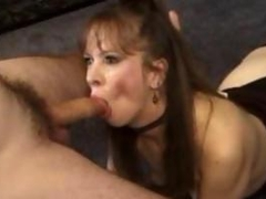 milf with great desire for a cock sucks on one