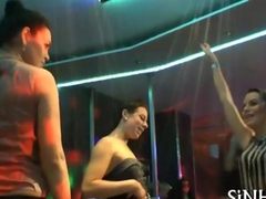 hot babes are having fun dancing at the party