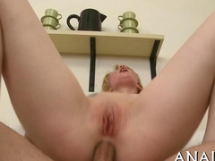 blonde lass gets to be spoon fucked sideways