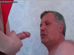 old gay doing oral and getting jizz segment