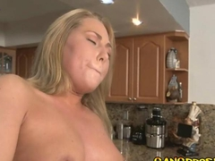 Sara Jay sucked on dick deep in her throat