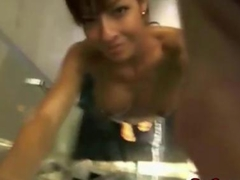 Sexy Chick With huge Tits takes a shower on Webcam