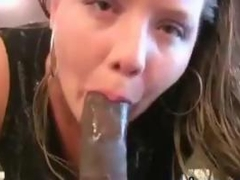 Fat White Girl Sucking On A Big Black Cock