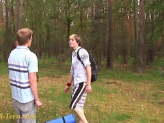 bisexual teens playing outdoors